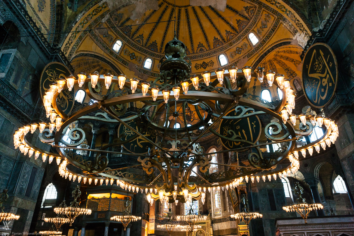 hagia sophia the rise and fall Above is a plan of the nave of hagia sophia showing the layout of the sanctuary furnishings, solea and ambo hagia sophia was - and is - justly celebrated for the luxuriousness and opulence of it's decoration which included rare and costly marbles, acres of gold mosaic and rich liturgical furnishings.