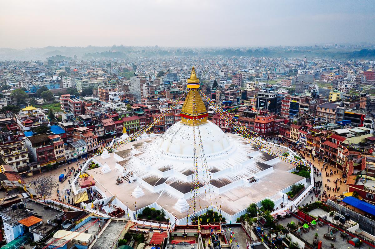 Boudhanath Stupa Herz Und Auge Von Kathmandu