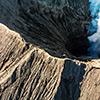 Bromo volcano drone