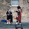 Edinburgh bagpipers