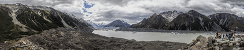 New Zealand, Southern Alps, Tasman Glacier panorama