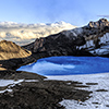 New Zealand, Ruapehu volcano, crater lake