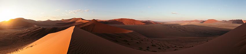 Namib sunrise panorama
