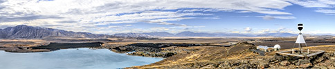New Zealand, Southern Alps, Lake Tekapo panorama