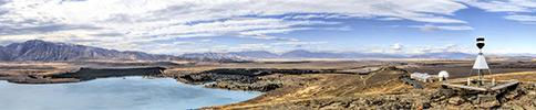 Neuseeland, Südliche Alpen, Lake Tekapo panorama