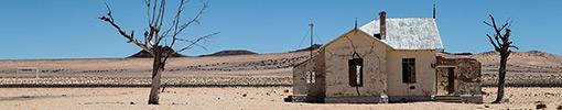 Abandoned station of Trans-Namibian Seeheim-Lüderitz railway line
