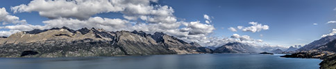 New Zealand, Southern Alps, Queenstown, Wakatipu panorama