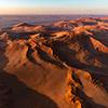 Namib aerial image Sonnenaufgang