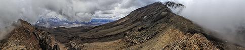 Neuseeland, Ruapehu volcano, crater panorama