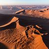 Namib aerial image sunrise