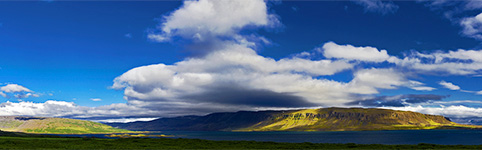 Iceland, panorama photo Westfjords