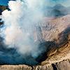 Drone Bromo volcano