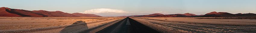 Namib sunset panorama