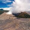 Bromo volcano drone image