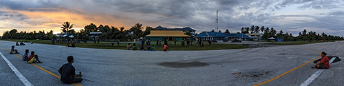 Tuvalu airport panorama