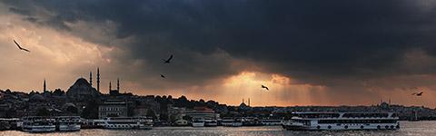 Istanbul, Goldenes Horn, Sonnenuntergang