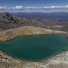 New Zealand, Tongariro Alpine Crossing, Emerald Lakes