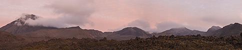 New Zealand, Tongariro sunrise, panorama
