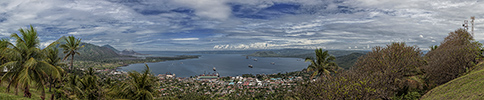 Rabaul Caldera panorama, Simpson Harbour