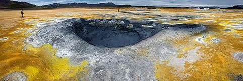 Námaskarð Schlammvulkan Panorama