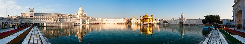 Indien, Amritsar, Golden Temple, Panorama