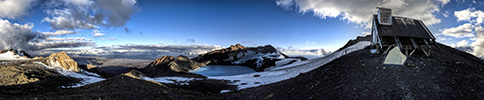 New Zealand, Ruapehu volcano, crater panorama