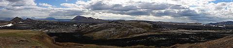 Island, Krafla Panoramafoto