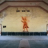 Olympic Village, Hindenburg House, Lenin mural