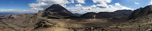 Neuseeland, Tongariro Alpine Crossing, Panoramafoto